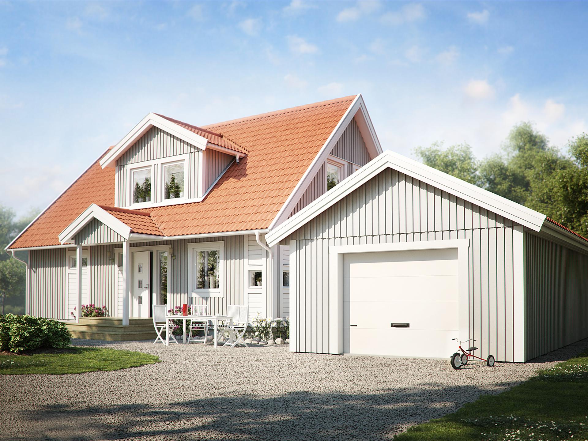 Garage 44 0 garage och sidobyggnad fr n sm landsvillan for Garage versailles 44